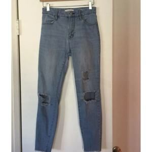 PacSun Push Up Ankle Jegging Raw Hem Jeans 26""